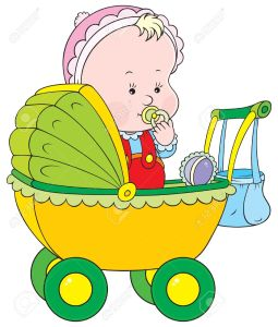 9012009-small-child-sitting-in-a-pram-stock-vector-baby-cartoon-clipart